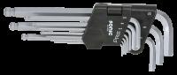 Kugel-Innensechskantschlüsselsatz, lang,1.27-10mm, 10-tlg.